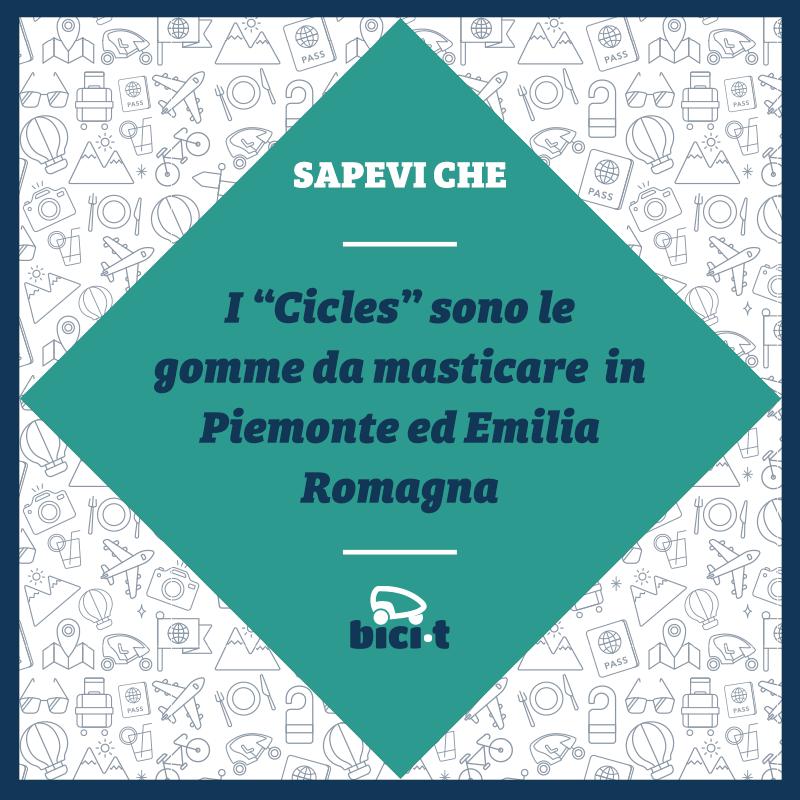 Perché a Torino chiamiamo le gomme da masticare cicles?