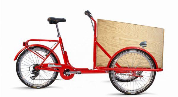 Cargo Bike TrikeGo COMPLETO DI BOX TELAIO ROSSO