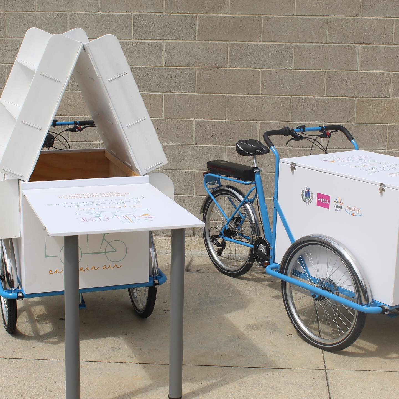 "Biblioteche ""en plein air"" con cargo bike"