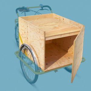 """TRIKEGO Box chiuso """"Espositore"""" con sportellino trontale e pianale orizzontale estraibile"""