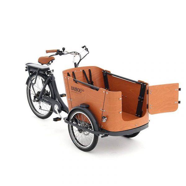 BABBOE GO-E - con porticina anteriore -perfetta per 2 bambini + 1cane