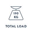 Carico totale che regge la bici è di 190kg