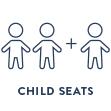 La JustLong può trasportare nella parte posteriore 2 seggiolini per bambini oppure fino a 3 bambini con l'apposito Child Pack (protezione barra poggiapiedi)