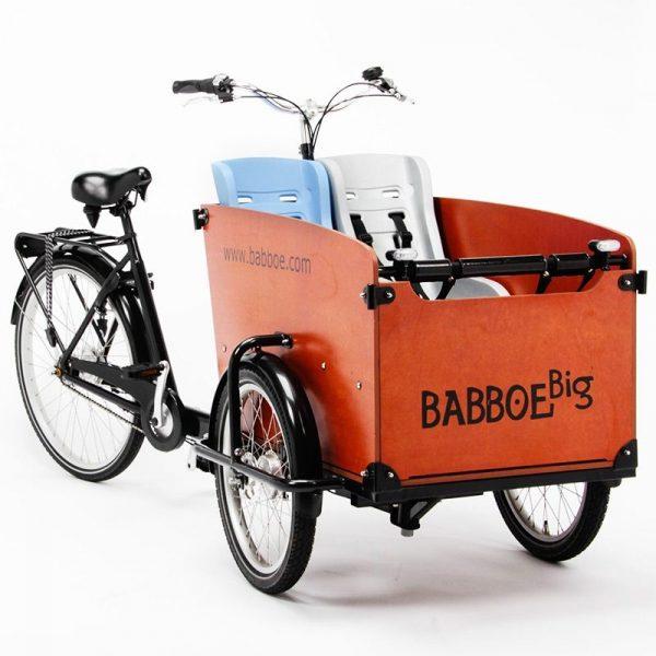 Babboe - Seggiolino per bambini x 2 in una Babboe Big